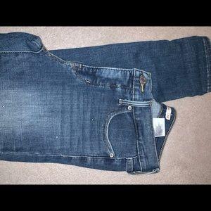 Studded Levi 311 ankle jeans